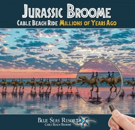 Feel like a T-Rex ride on Cable beach?